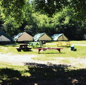 Tents at Camp Monahan