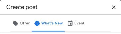 Google Listing Types of Posts